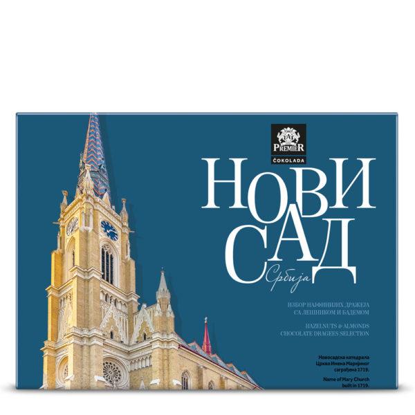 Omot Bombonjere Dražeja sa Motivom Rimokatoličke Katedrale u Novom Sadu.