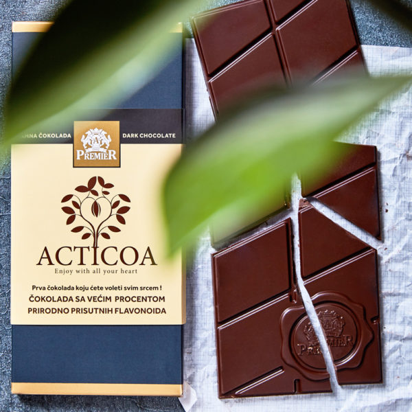 Tamna čokolada Acticoa sa prirodnim flavonoidima