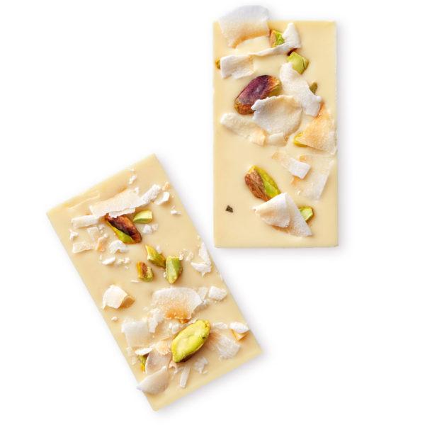 Bele čokoladne pločice sa pistaćima i kokosom