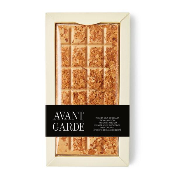 Avant Garde bela čokolada sa karamelom I hrskavim keksom