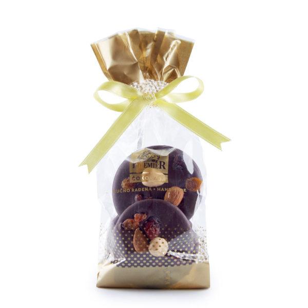 Tamne čokoladne pločice sa voćem