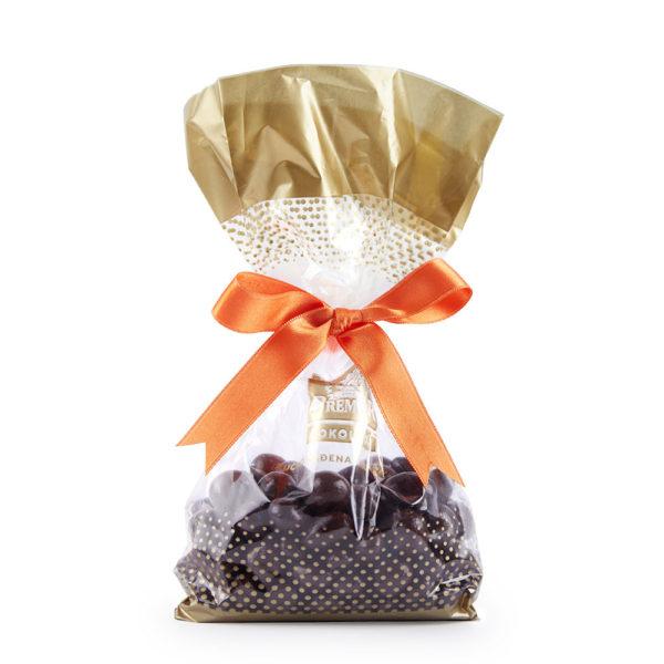 Posni miks dražeja sa bademom, lešnikom, brusnicom, grožđem i narandžom u mlečnoj i tamnoj čokoladi
