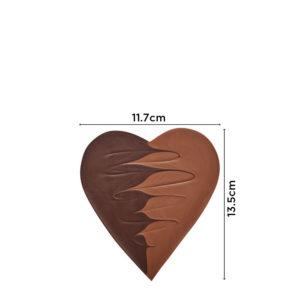 Čokoladno srce sa mlečnom i tamnom čokoladom