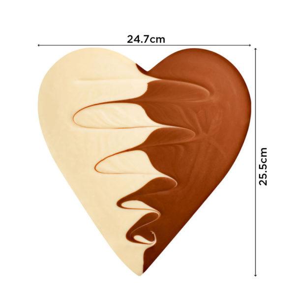 Čokoladno srce sa mlečnom i belom čokoladom