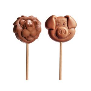 Čokoladne lizalice u obliku lava i svinje