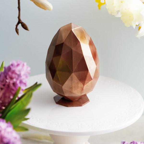 Uskršnje Bronzano Dijamant Jaje sa Dekoracijom Trouglova.